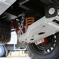 The HKC-3600 X camper trailer boasts heavy duty suspension